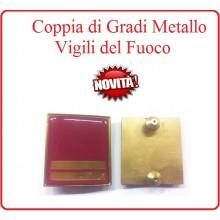 Coppia Gradi di Qualifica New Fondo Amaranto Vigili del Fuoco Capo Squadra Esperto Art.VVFF-G23