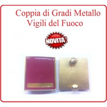 Coppia Gradi di Qualifica New Fondo Amaranto Vigili del Fuoco Capo Squadra Art.VVFF-G21