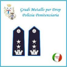 Gradi Metallo Polizia Penitenziaria per Drop  Commissario Coordinante Art.PP-17