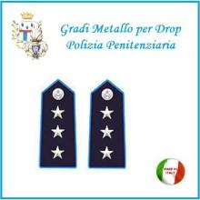 Gradi Metallo Polizia Penitenziaria per Drop  Commissario Art.PP-15