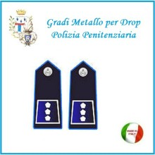 Gradi Metallo Polizia Penitenziaria per Drop Ispettore Copa  Art.PP-11