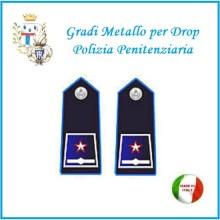 Gradi Metallo Polizia Penitenziaria per Drop Sostituto Commissario Art.PP-13