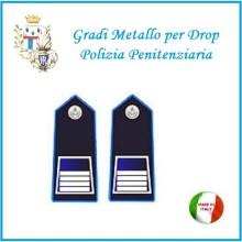 Gradi Metallo Polizia Penitenziaria per Drop Sovraintendente Capo  Art.PP-7