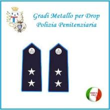 Gradi Metallo Polizia Penitenziaria per Drop Vice  Commissario Art.PP-14