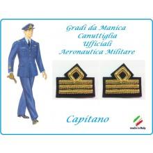 Coppia di Gradi Manica Canuttiglia Aeromnautica Militare Capitano Art.AERO-3
