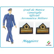 Coppia di Gradi Manica Canuttiglia Aeromnautica Militare Maggiore Art.AERO-4