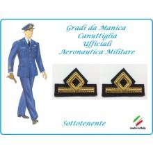 Coppia di Gradi Manica Canuttiglia  Aeromnautica Militare Sottotenente Art.AERO-1