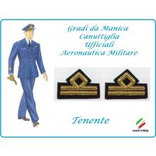 Coppia di Gradi Manica Canuttiglia Aeromnautica Militare Tenente Art.AERO-2