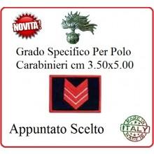 Gradi New Polo Ordine Pubblico più Piccoli cm 3.50x5.00  Carabinieri con Velcro APPUNTATO SCELTO Art.CC-P4