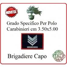 Gradi New Polo Ordine Pubblico più Piccoli cm 3.50x5.00  Carabinieri con Velcro BRIGADIERE CAPO  Art.CC-P7