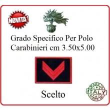 Gradi New Polo Ordine Pubblico più Piccoli cm 3.50x5.00  Carabinieri con Velcro CARABINIERE SCELTO Art.CC-P2