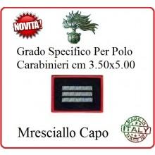 Gradi New Polo Ordine Pubblico più Piccoli cm 3.50x5.00  Carabinieri con Velcro MARESCIALLO CAPO Art.CC-P10