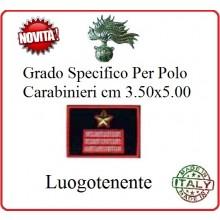 Gradi New Polo Ordine Pubblico più Piccoli cm 3.50x5.00  Carabinieri con Velcro LUOGOTENENTE Art.CC-P11