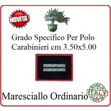 Gradi New Polo Ordine Pubblico più Piccoli cm 3.50x5.00  Carabinieri con Velcro MARESCIALLO ORDINARIO Art.CC-P9