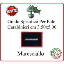 Gradi New Polo Ordine Pubblico più Piccoli cm 3.50x5.00  Carabinieri con Velcro MARESCIALLO Art.CC-P8