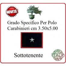 Gradi New Polo Ordine Pubblico più Piccoli cm 3.50x5.00  Carabinieri con Velcro SOTTOTENENTE Art.CC-P13