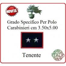 Gradi New Polo Ordine Pubblico più Piccoli cm 3.50x5.00  Carabinieri con Velcro TENENTE Art.CC-P14