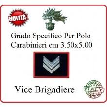 Gradi New Polo Ordine Pubblico più Piccoli cm 3.50x5.00  Carabinieri con Velcro VICE BRIGADIERE Art.CC-P5