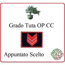 Gradi Tuta Ordine Pubblico Carabinieri con Velcro APPUNTATO SCELTO  Art.CC-O5
