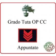 Gradi Tuta Ordine Pubblico Carabinieri con Velcro APPUNTATO  Art.CC-O4