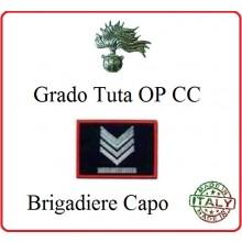 Gradi Tuta Ordine Pubblico Carabinieri con Velcro BRIGADIERE CAPO Art.CC-O8