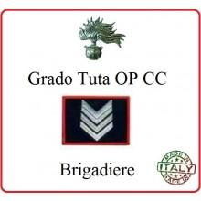 Gradi Tuta Ordine Pubblico Carabinieri con Velcro BRIGADIERE Art.CC-O7