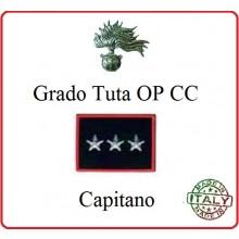 Gradi Tuta Ordine Pubblico Carabinieri con Velcro CAPITANO Art.CC-O14