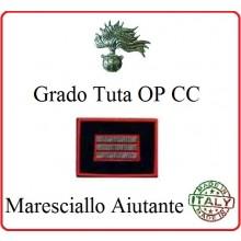 Gradi Tuta Ordine Pubblico Carabinieri con Velcro MARESCIALLO AIUTANTE Art.CC-O15