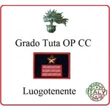Gradi Tuta Ordine Pubblico Carabinieri con Velcro LUOGOTENENTE Art.CC-O16
