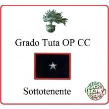 Gradi Tuta Ordine Pubblico Carabinieri con Velcro SOTTOTENENTE Art.CC-O12