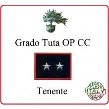 Gradi Tuta Ordine Pubblico Carabinieri con Velcro TENENTE Art.CC-O13