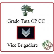 Gradi Tuta Ordine Pubblico Carabinieri con Velcro VICE BRIGADIERE Art.CC-O6