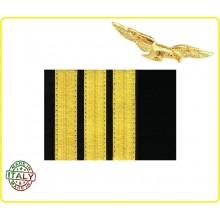 Coppia di Gradi Primo Ufficiale Aeronautica Civile Art.NSD-CIV3