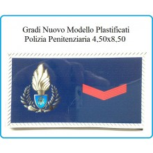 Gradi Plastificati Tuta Ordine Pubblico Polizia Penitenziaria Agente Scelto Art.PP-NEW-1