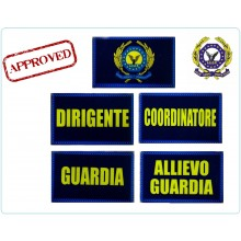 Gradi Plastificati con Velcro per Polo Nuovo Modello AEOP Ass. Europea Operatori di Polizia Art.NSD-AEOP-P