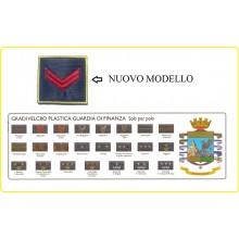 Gradi Nuovo Modello Velcro per Polo Guardia di Finanza GDF Scegli il Tuo Grado VENDITA RISERVATA  Art.NSD-6x6-GDF