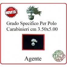 Gradi New Polo Ordine Pubblico più Piccoli cm 3.50x5.00  Carabinieri con Velcro AGENTE Art.CC-P1