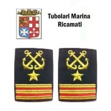 Gradi Tubolari Ricamati Marina Militare Italiana Nocchiere di Porto 1 Maresciallo Luogotenente Art.MM-21
