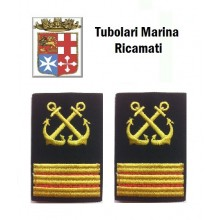 Gradi Tubolari Ricamati Marina Militare Italiana Nocchiere di Porto 1 Maresciallo Art.MM-20