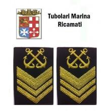 Gradi Tubolari Ricamati Marina Militare Italiana Nocchiere di Porto 2 Capo Art.MM-16