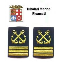 Gradi Tubolari Ricamati Marina Militare Italiana Nocchiere di Porto Capo di 1 Classe Art.MM-19