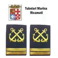 Gradi Tubolari Ricamati Marina Militare Italiana Nocchiere di Porto Capo di 2 Classe Art.MM-18