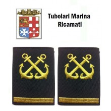 Gradi Tubolari Ricamati Marina Militare Italiana Nocchiere di Porto Capo di 3 Classe Art.MM-17