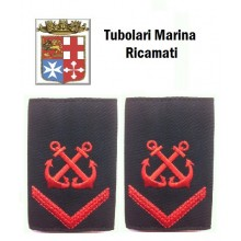 Gradi Tubolari Ricamati Marina Militare Italiana Nocchiere di Porto Comune di 1 Classe  Art.MM-10
