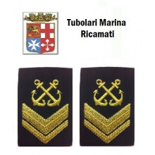 Gradi Tubolari Ricamati Marina Militare Italiana Nocchiere di Porto Sergente  Art.MM-15