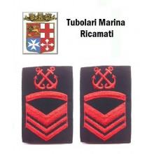 Gradi Tubolari Ricamati Marina Militare Italiana Nocchiere di Porto Sottocapo di 1 Classe  Art.MM-14