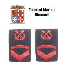 Gradi Tubolari Ricamati Marina Militare Italiana Nocchiere di Porto Sottocapo di 3 Classe  Art.MM-12