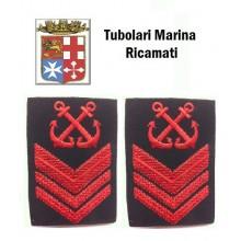 Gradi Tubolari Ricamati Marina Militare Italiana Nocchiere di Porto Sottocapo  Art.MM-11