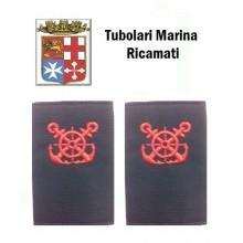 Gradi Tubolari Ricamati Marina Militare Italiana Nocchiere di Bordo Art.MM-4
