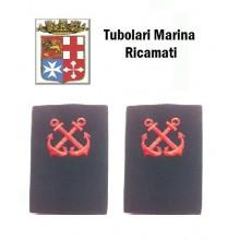 Gradi Tubolari Ricamati Marina Militare Italiana Nocchiere di Porto  Art.MM-9